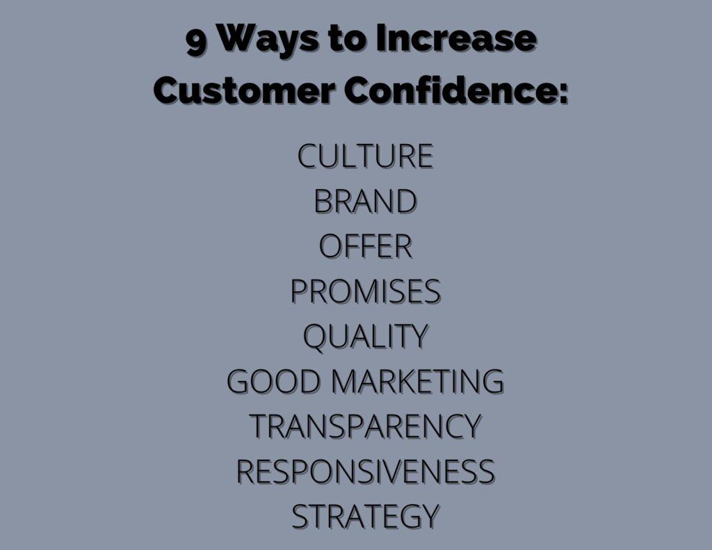 9 Ways to Increase Customer Confidence